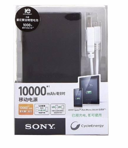 Carregador Portatil Sony 10000mah USB Preto Para Smartphones