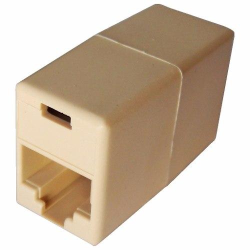 Kit 10 Adaptador Emenda Rj45 Cabo Rede Cat5e Conector Fêmea