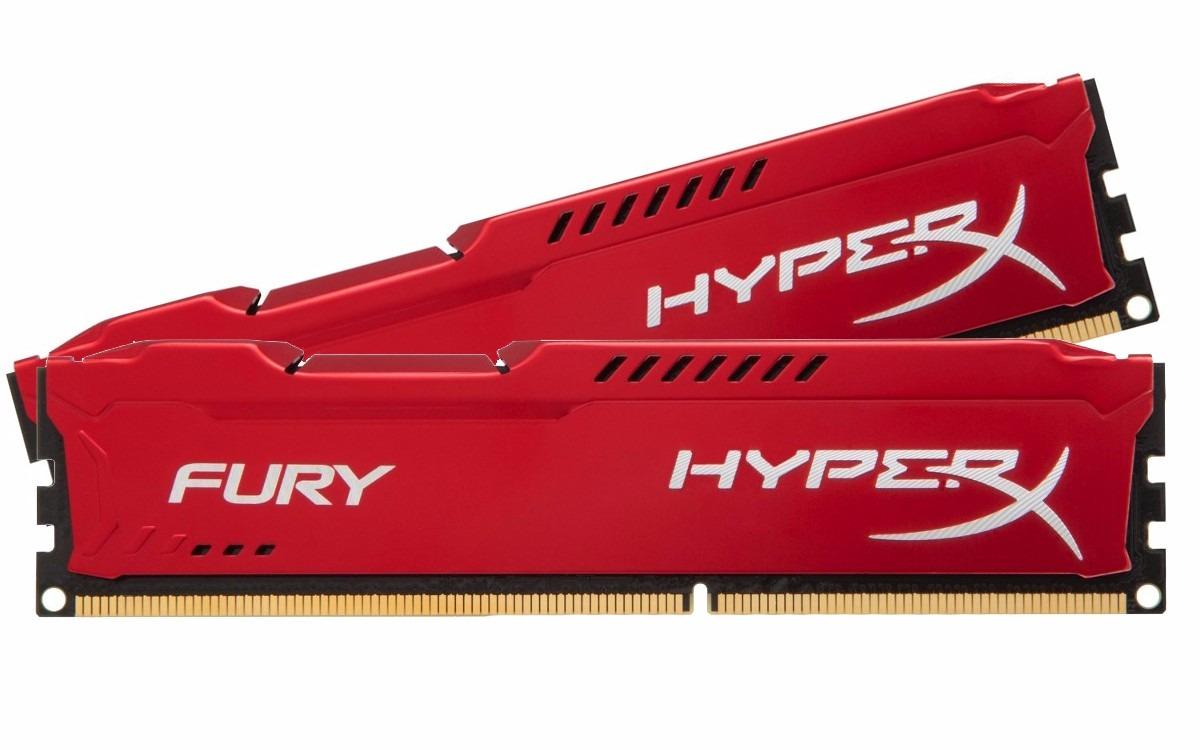 Memória Ram DDR3 8gb 1600mhz Kingston Hyperx Fury Red HX316C10FR/4 (2 X 4gb)