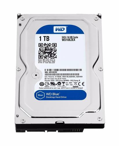 HD Interno 1TB 1000gb WD Blue 64mb Sata 3 6gb/s 7200rpm WD10EZEX