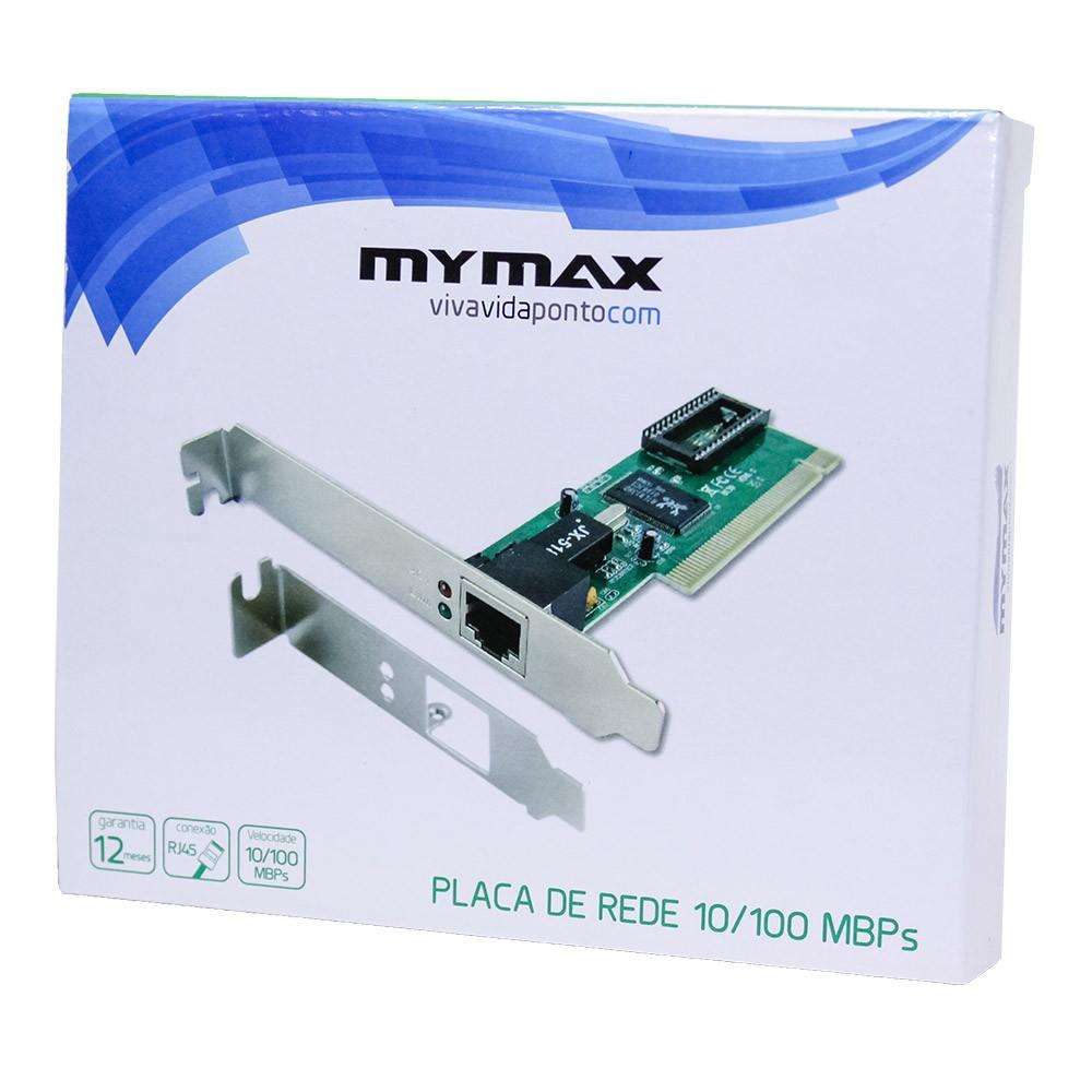 Placa De Rede Pci 10/100 Megabit Mymax Chipset Rtl8139d