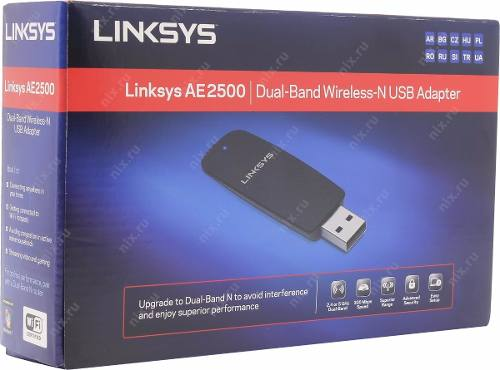 Adaptador Wireless Usb Linksys 300mbps Ae2500 Dual Band 2.4Ghz e 5.0Ghz