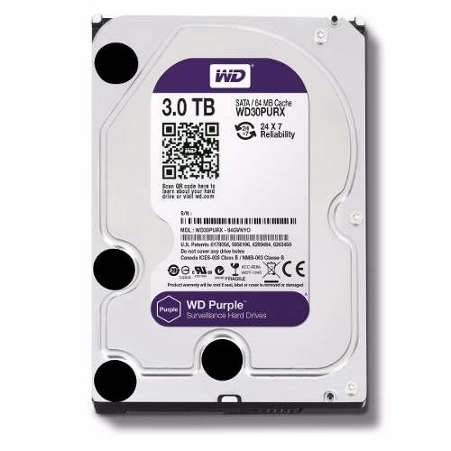 Hd 3tb Western Digital WD Purple 64mb Sata Para DVR CFTV WD30PURX