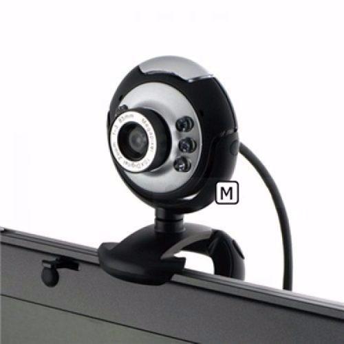 Webcam Com Microfone Embutido + Led + Zoom Com Conexão Usb