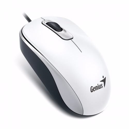 Mouse Optico Usb Branco Genius Dx-110 1000 Dpi