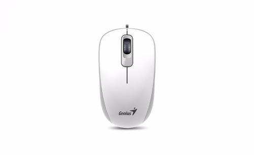 Mouse Optico Usb Branco Genius Dx-110 1000 Dpi