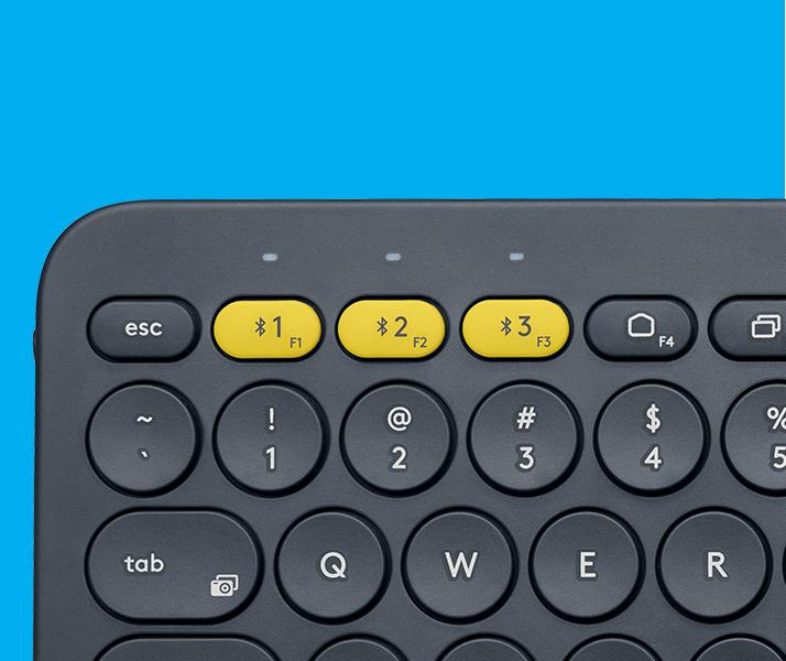 Teclado Bluetooth Logitech K380 Conecta 3 Ao Mesmo Tempo Mac Tecla Amarela