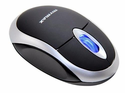 Mouse Usb Optico 800 Dpi 3 Botões Com Scroll E Led Azul Mymax OPM-3006/USB