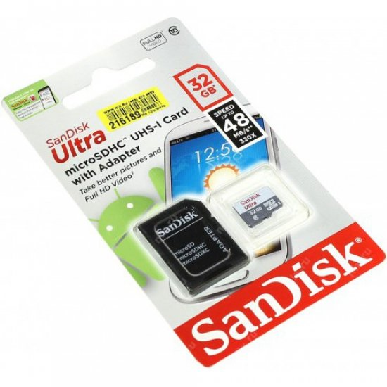 Cartão de Memória 32GB Micro SD c/ Adaptador SD Classe 10 48mbps