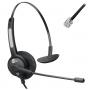 Headset MonoAuricular RJ9 Htu-300 TopUse com Haste Flexível
