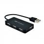 HUB USB 2.0 4 Portas 480mbps HU-220BK C3 Tech Preto LED Indicador