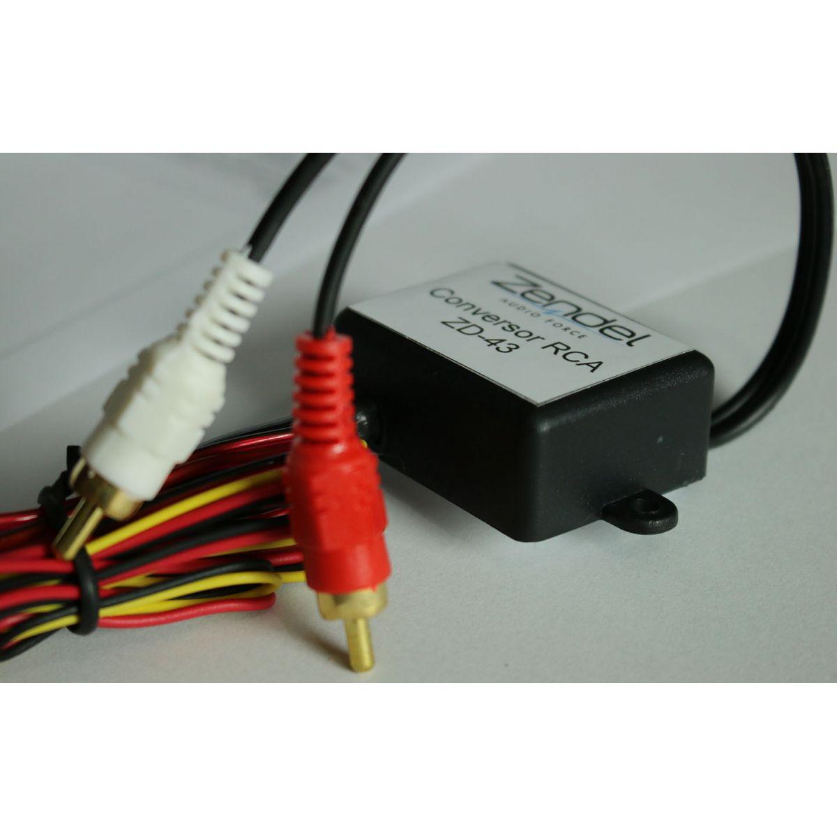 Conversor de Fio para RCA com Remoto - Ligação de Módulo no Som Original
