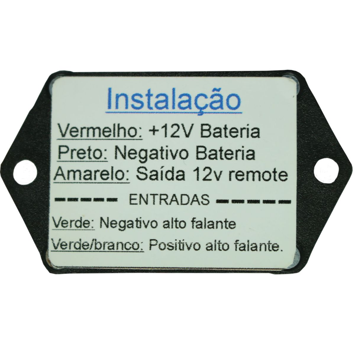 Interface de Acionamento Remoto p/ Som Original Sem Remote
