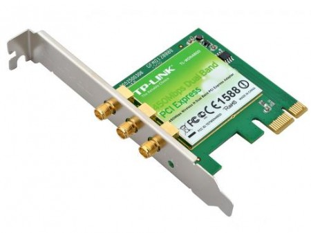 Placa de rede Wireless 450mbps PCI Express X1 Dual Band 3 Antenas Tp-Link