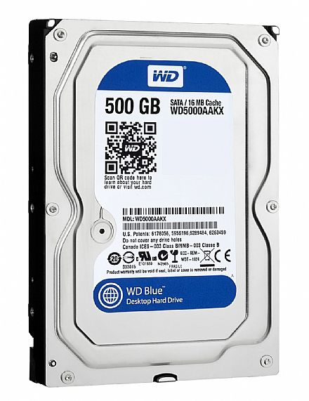 HD 500GB WD Sata WD5000AAKX Para PC Desktop 16mb Cache Nacional
