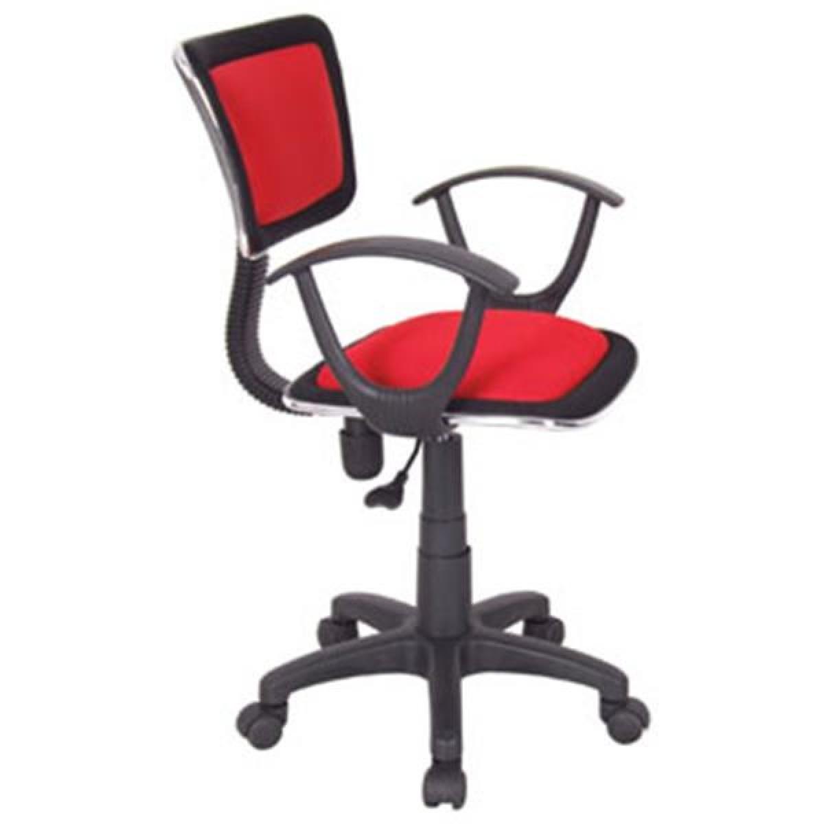 Cadeira de Escritório Vermelha Xtech Roma c/ Ajuste Altura e Apoio de Braço