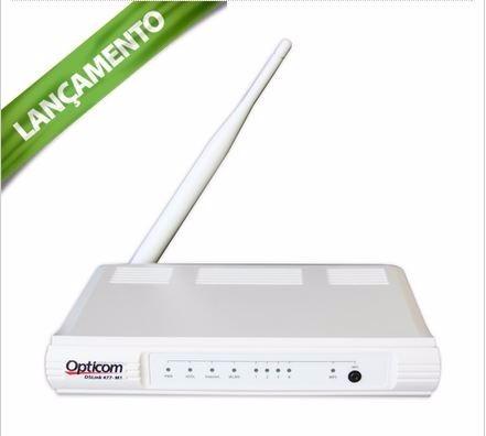 Modem E Roteador Internet Wireless Opticom Dslink 477m1 Adsl