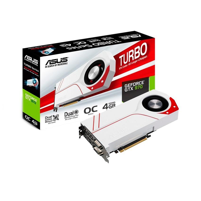 Placa de Vídeo Asus GeForce GTX 970 4GB OC Turbo Series - 256 Bits GDDR5