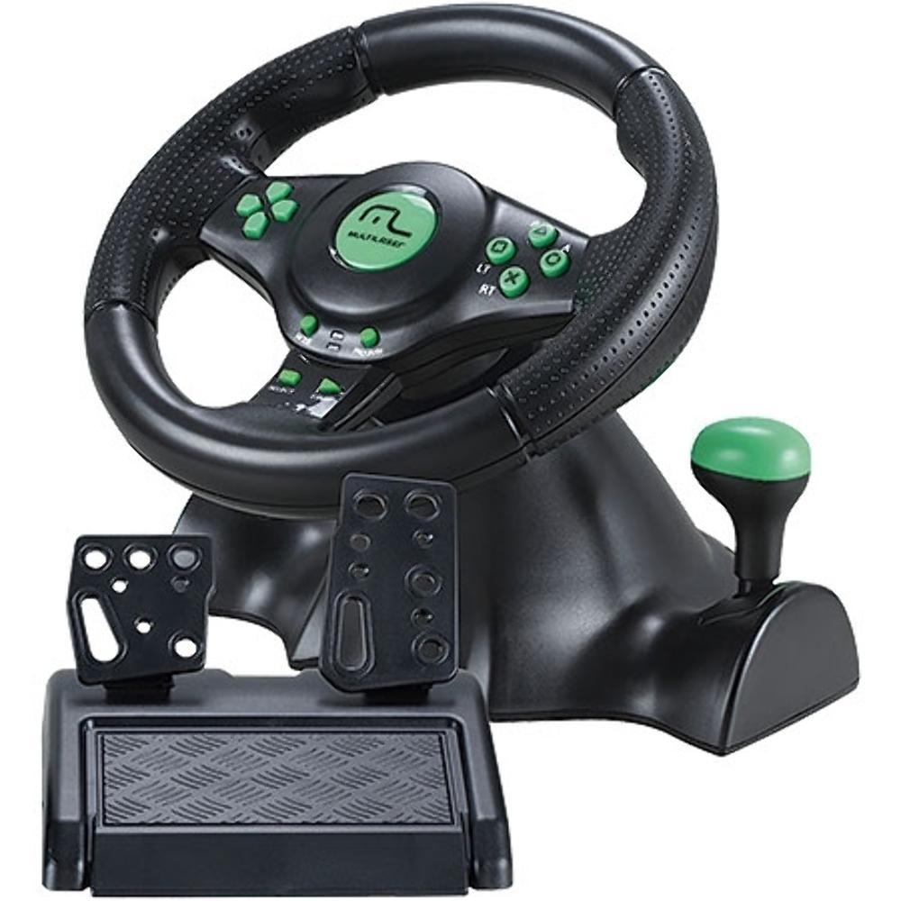 Volante Para Ps2 Ps3 Xbox 360 Pc Joystick com Marcha Acoplada e Função Dual Shock Multilaser