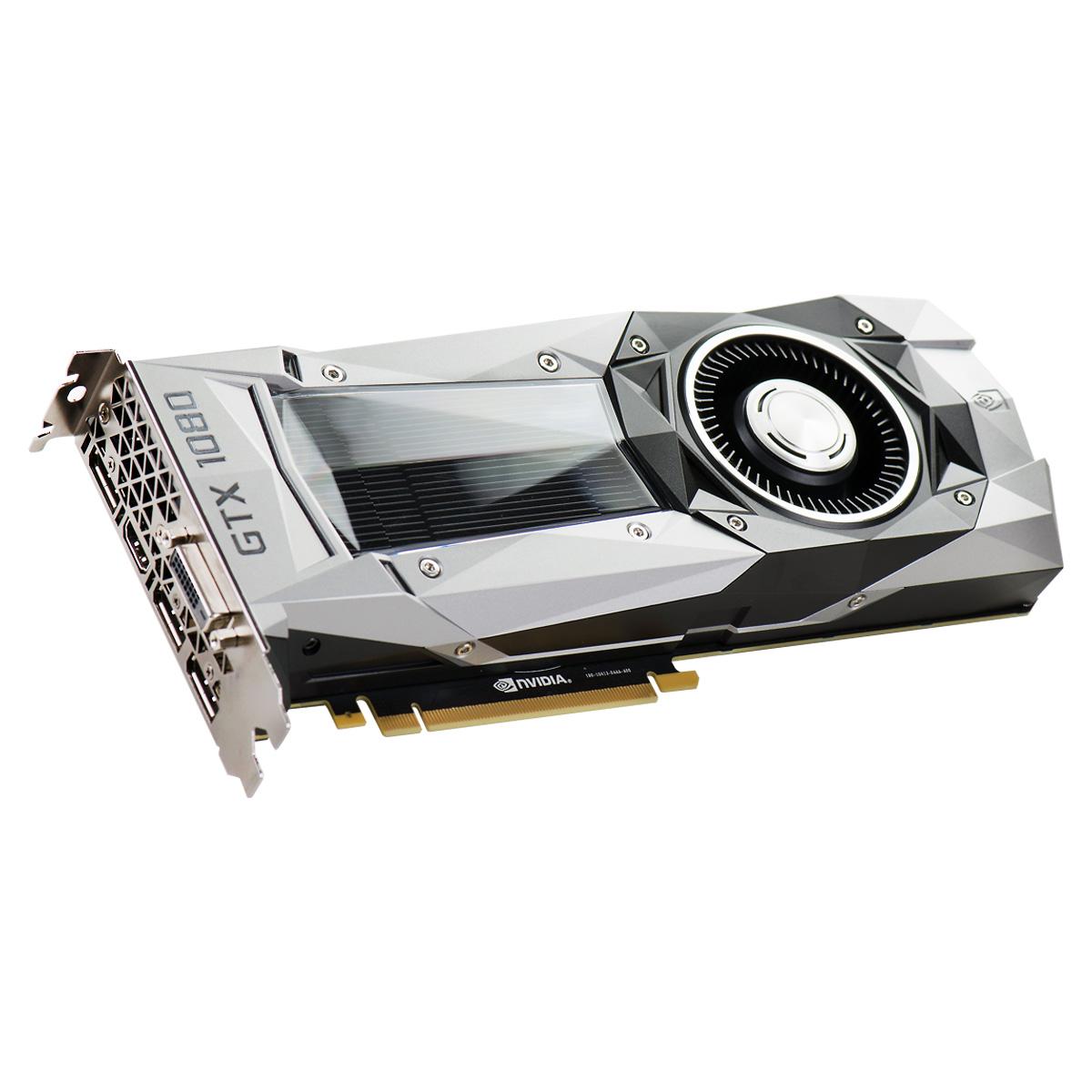 Placa de Vídeo GeForce GTX 1080 8GB Evga DDR5X Pci-e 256 Bits 08G-P4-6180-KR Founders Edition