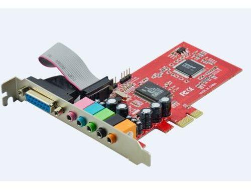 Placa de Som Surround 5.1 Pci Express X1 Direct Sound 3D Feasso FPSOM-02