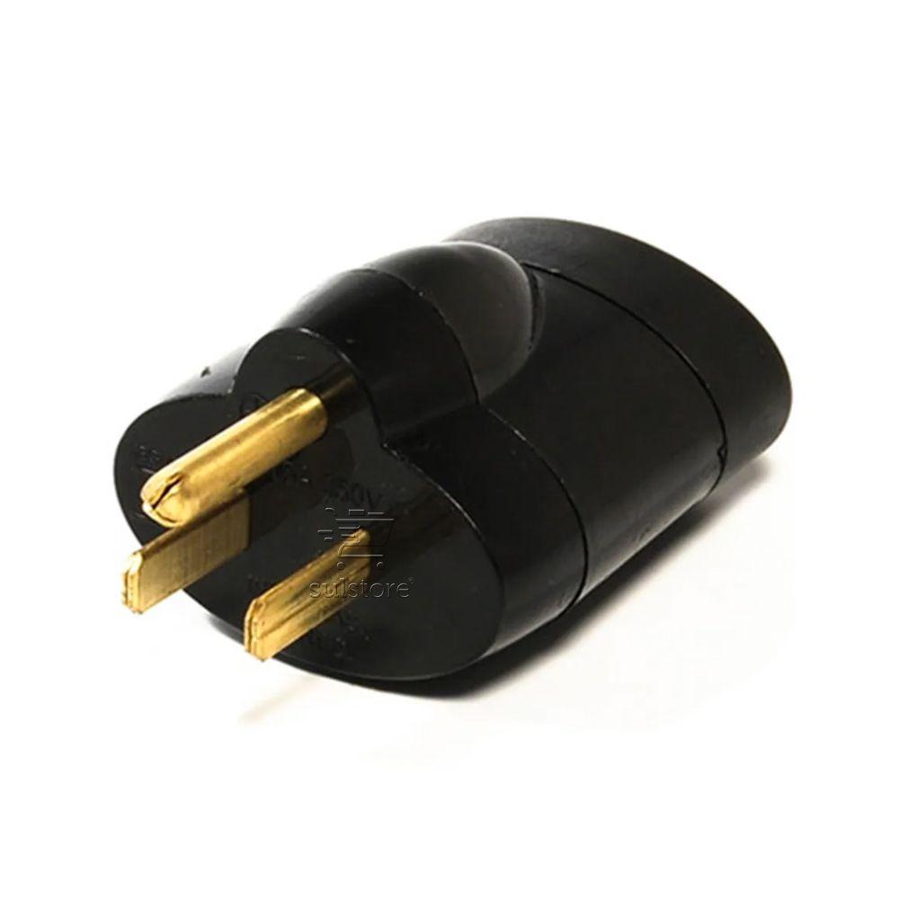 Adaptador para Tomada Padrão Antigo Americano Macho 10A Máximo 15A para Padrão Novo Fêmea SMS 64122
