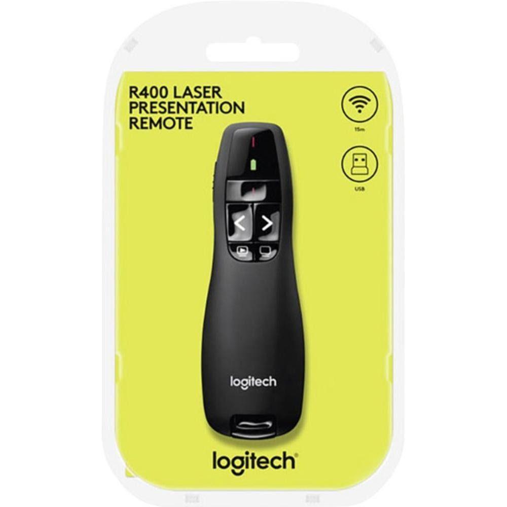 Apresentador Passador de Slides Laser Wireless Logitech R400