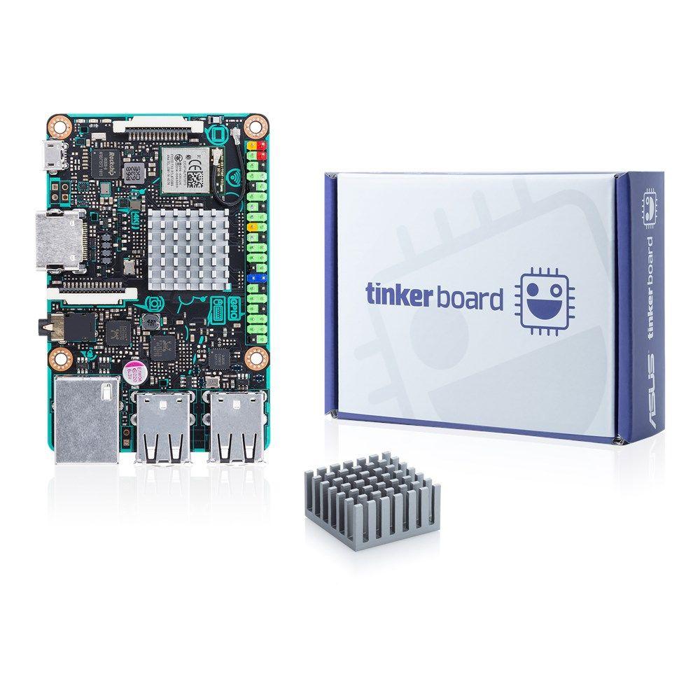 Asus Tinker Board 2GB SBC 4K Placa Mãe 90MB0QY1-M0EAY0 Igual a Raspberry PI