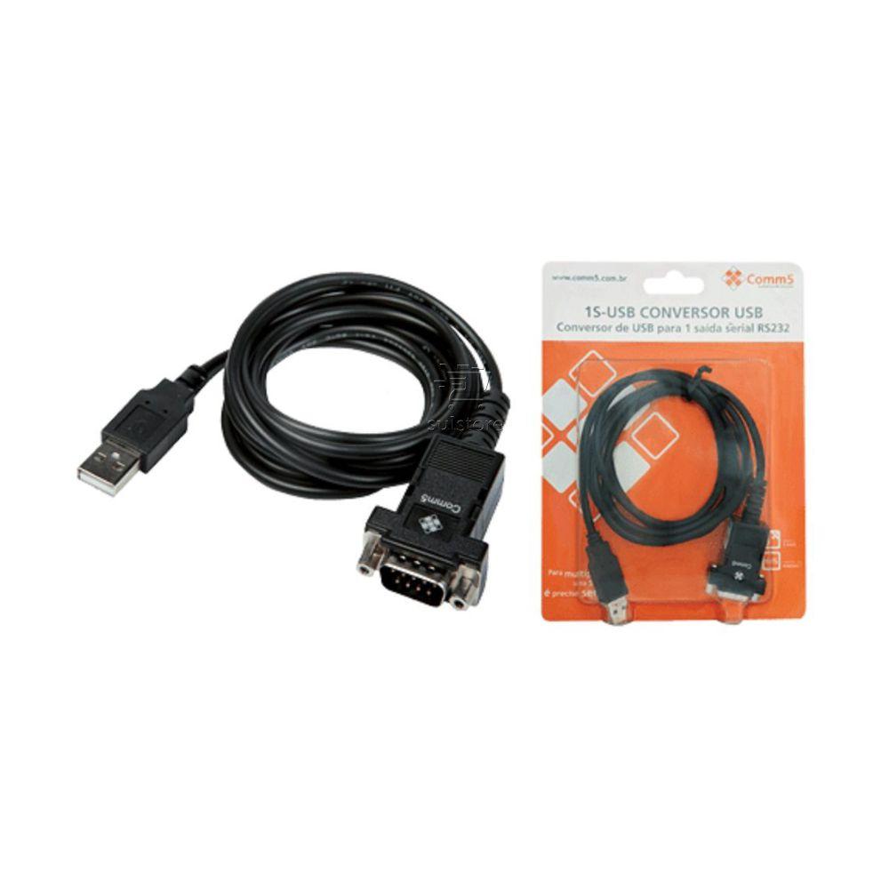 Cabo Conversor Adaptador USB Serial RS232 Comm5 1S-USB FTDI