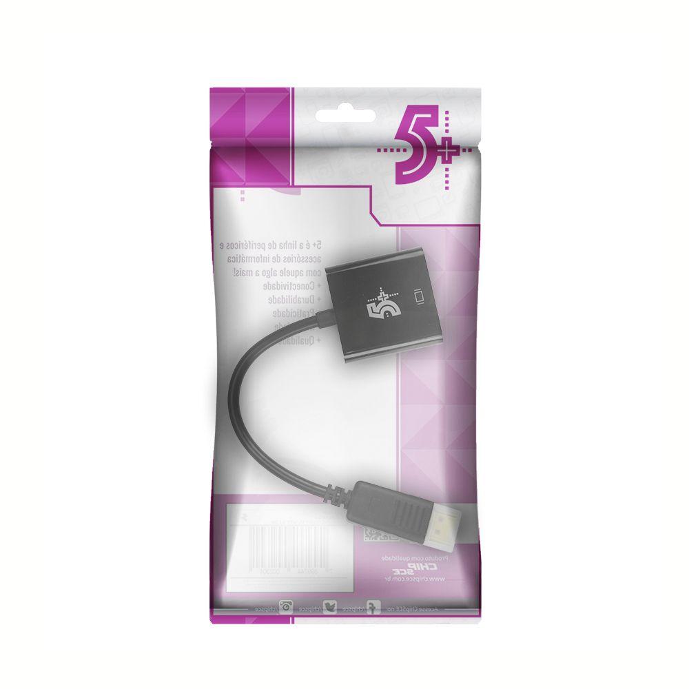 Cabo Conversor Displayport Para HDMI Áudio e Vídeo 1080p 15cm ChipSCE 5+ 075-0829