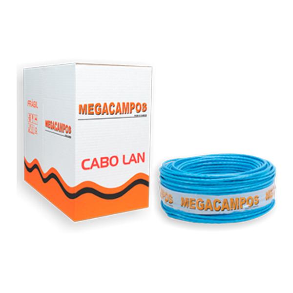 Cabo de Rede Cat5e Azul Caixa 300 Metros MegaCampos MGCPS-CAT5E