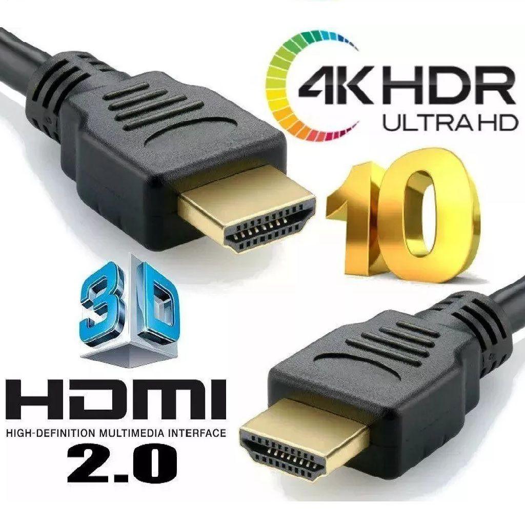 Cabo HDMI 10 Metros Versão 2.0 FULL HD 4K HDR Brasforma HDMI-5010