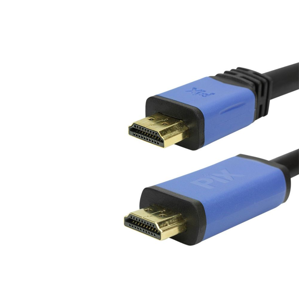 Cabo HDMI 2.0 4K Ultra HD 3D HDR 19 Pinos 20 Metros Com Filtro PIX Premium 018-2020