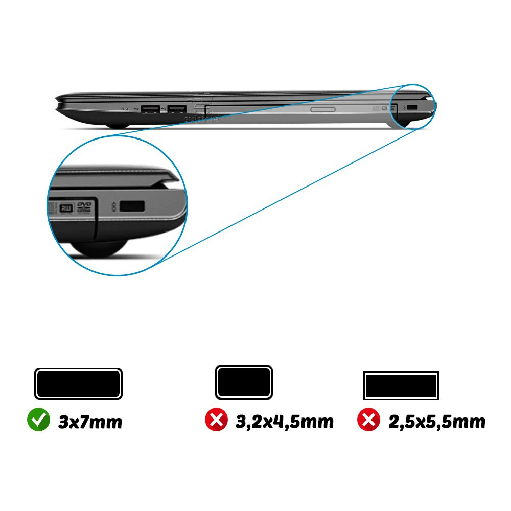 Cadeado Trava para Notebook Com Segredo 1,8 Metros C3 Tech CS-10