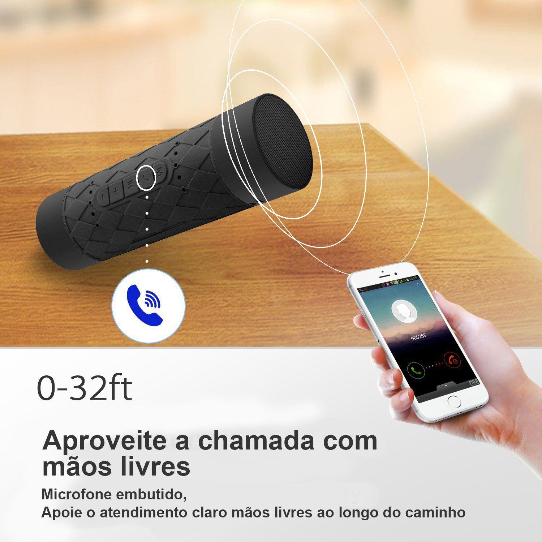 Caixa De Som Á Prova D'água Bluetooth Piscina Banho Bicicleta MP3 Feasso FASOM-BT101