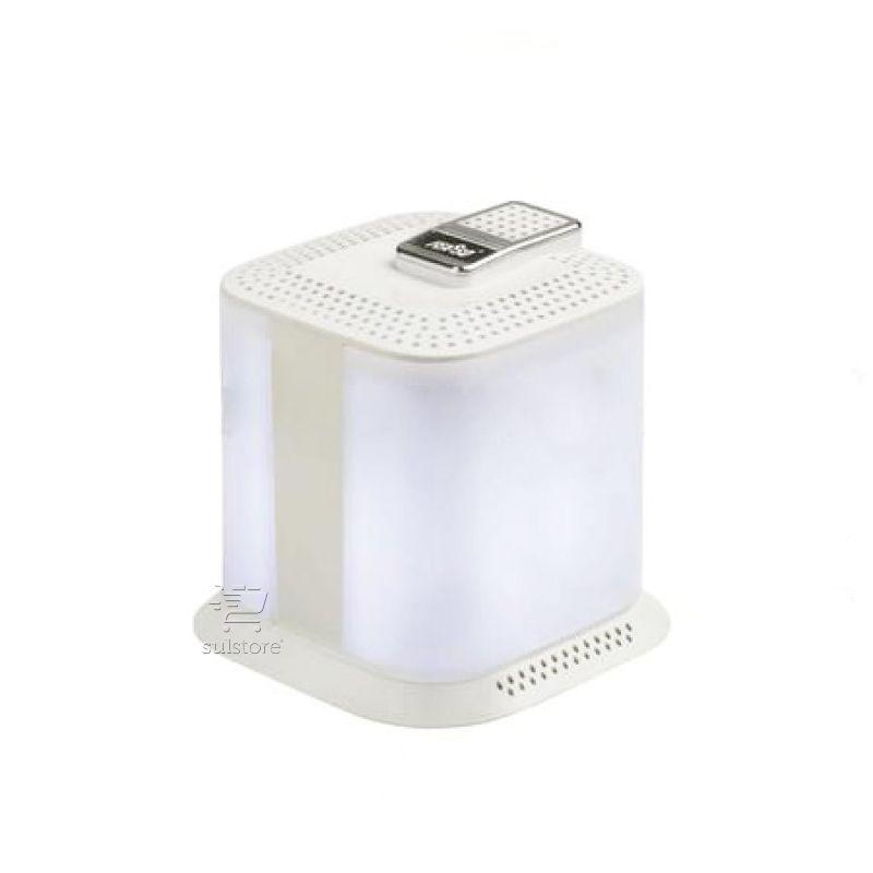 Caixa de Som Com Luz Branca Para PC e Note P2 e USB Controle no Cabo Feasso FASOM-21
