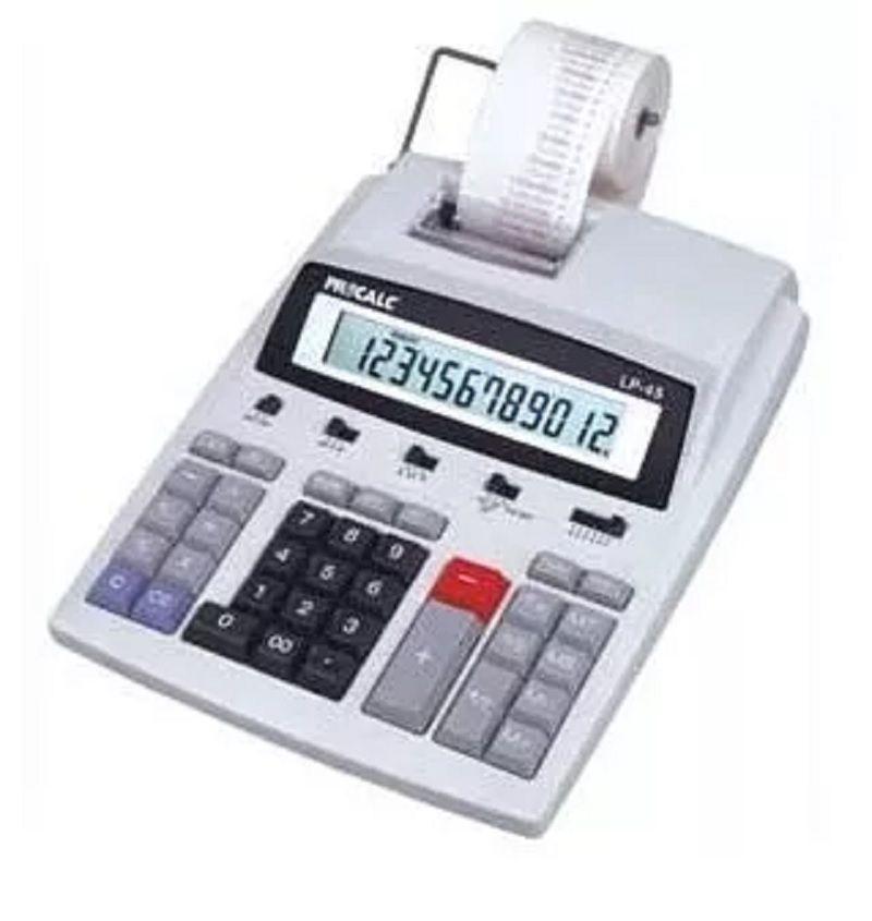 Calculadora De Mesa Com Impressão Bicolor Bivolt Bobina LP45 Procalc