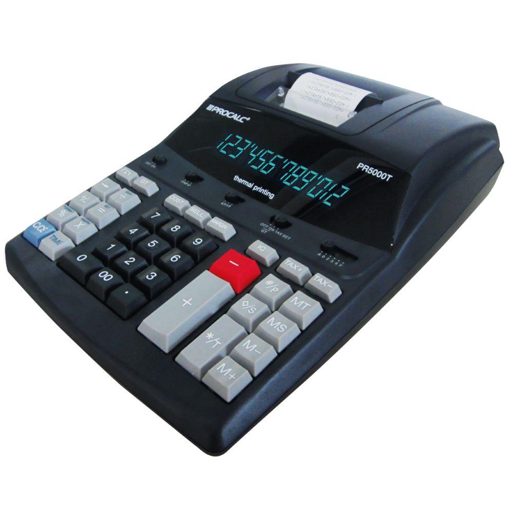 Calculadora Profissional De Mesa Procalc PR5000T Térmica 12 Dígitos Bivolt
