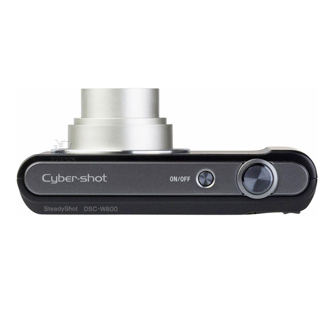 Câmera Digital Sony DSC-W800 20.1MP Zoom Óptico 5X e Bateria Recarregável