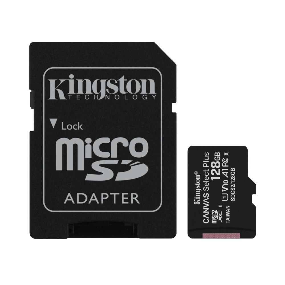 Cartão de Memória Micro SD 128GB Classe 10 100mb/s Kingston Canvas Select Plus SDCS2/128GB