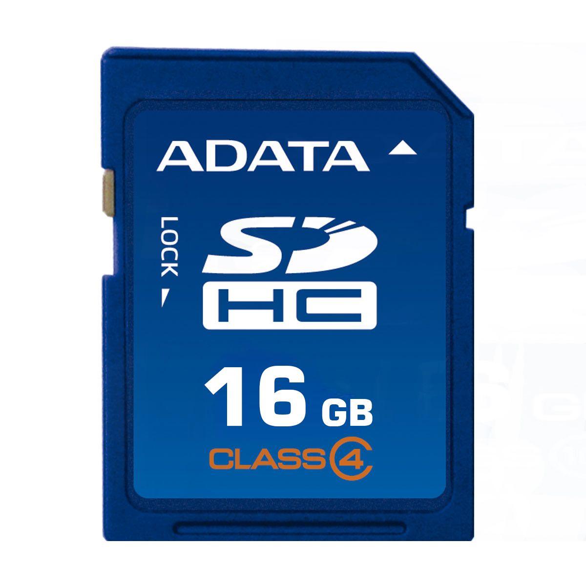 Cartão de Memória SD 16GB Classe 4 Adata ASDH16GCL4-R