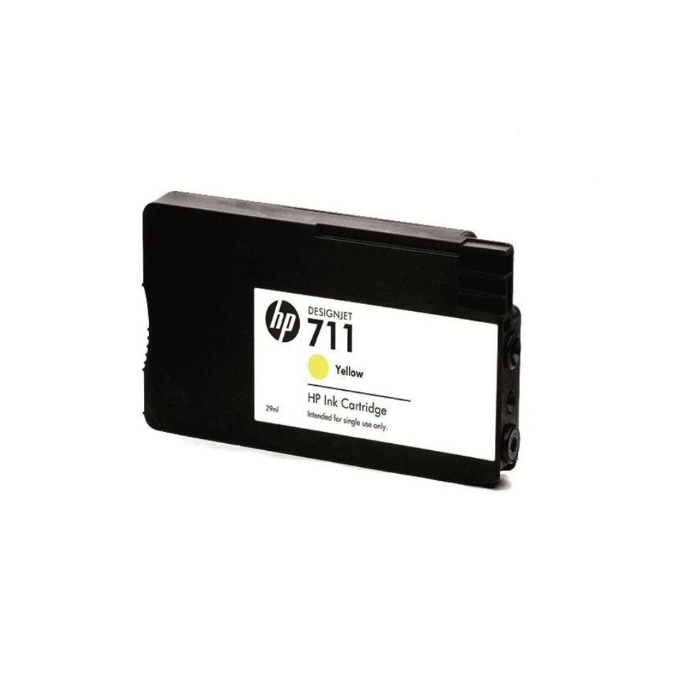 Cartucho HP 711 Amarelo 29ml CZ132AB Para T120 T520 DesignJet