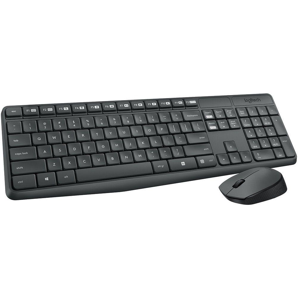 Combo Teclado e Mouse Logitech MK235 Kit Sem Fio Wireless 920-007903