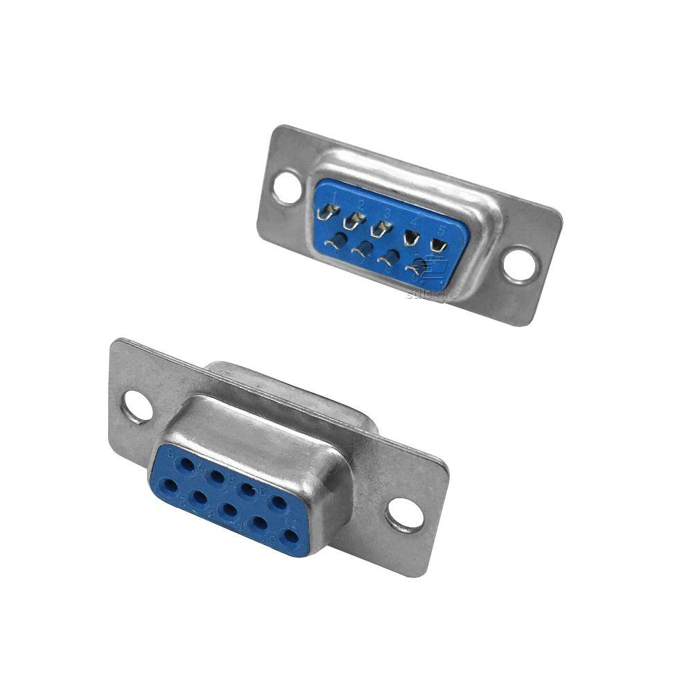 Conector DB-9 Serial RS232 Fêmea Pacote com 10 Peças 025-0009 Chip Sce