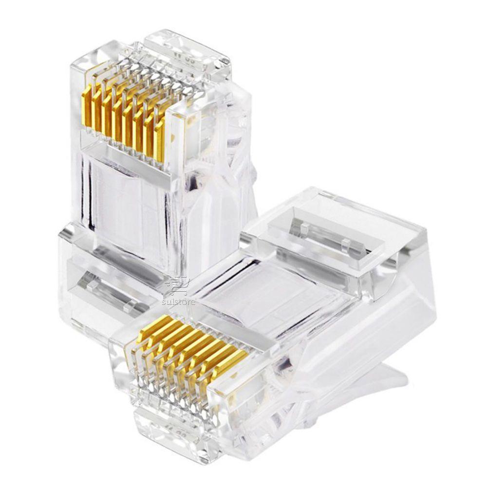 Conector de Rede Plug RJ45 8x8 CAT6 062-0046 Chip SCE Pacote com 100 Peças