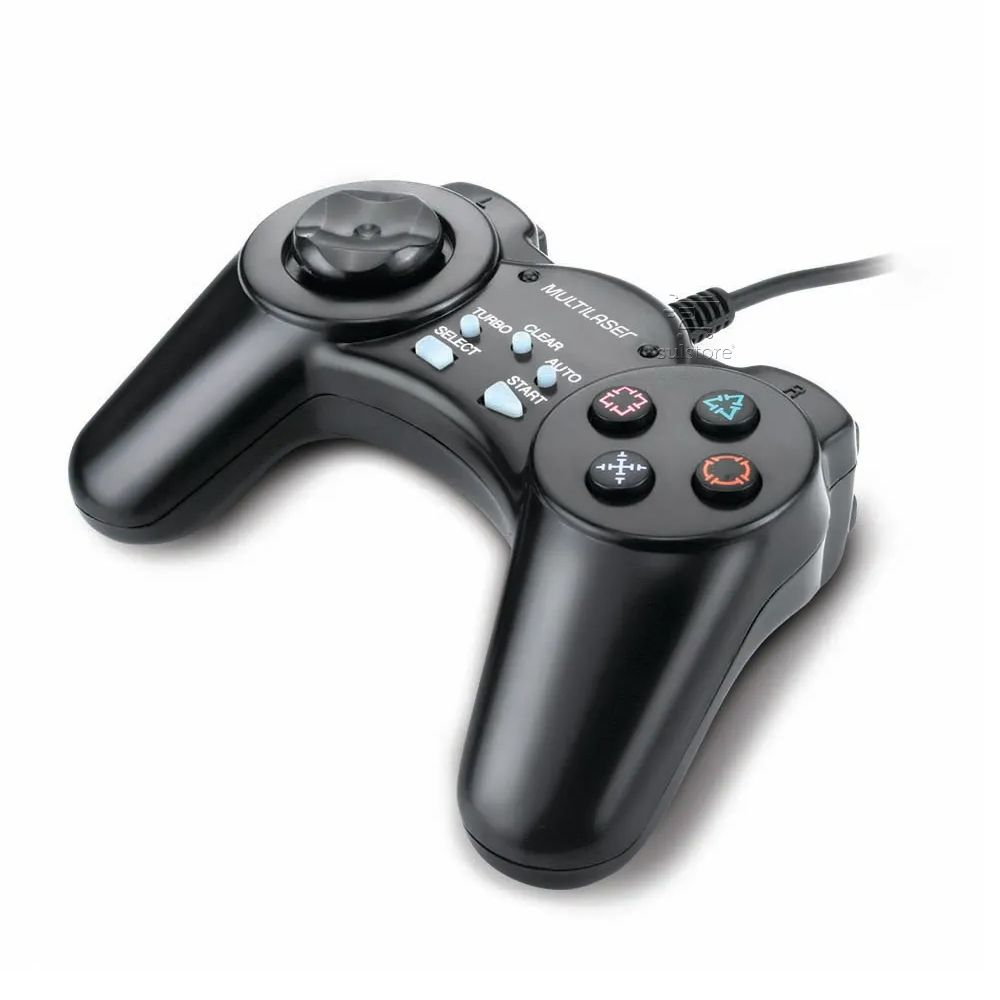Controle Joystick Joypad PC USB Botao Turbo Com Fio Multilaser JS028