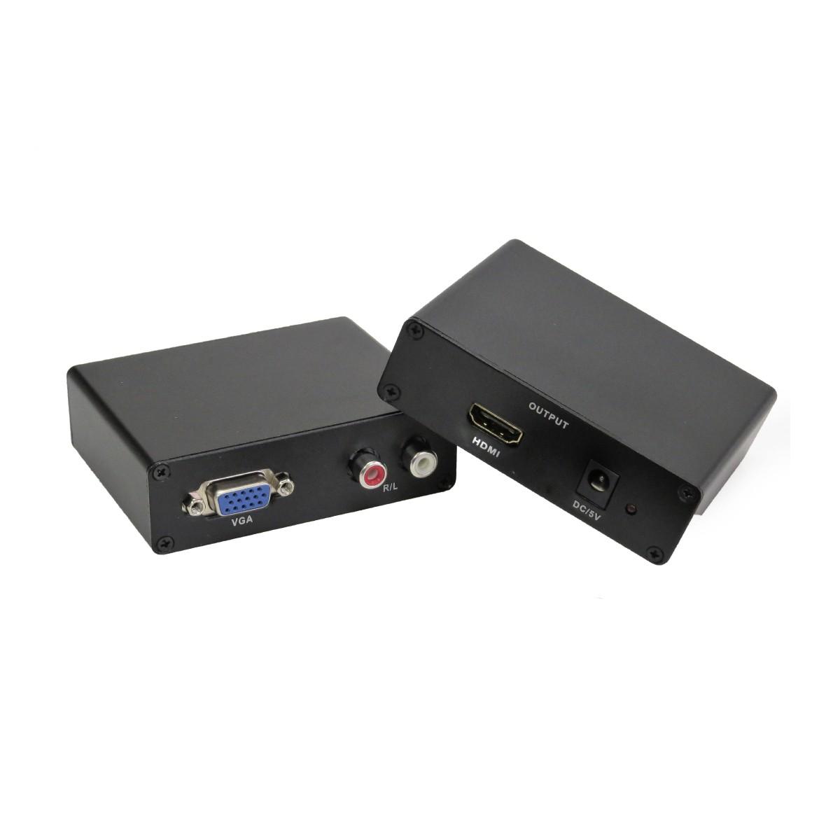Conversor de Vídeo VGA Fêmea para HDMI Fêmea Com Áudio RCA Exbom VAC-V2H100