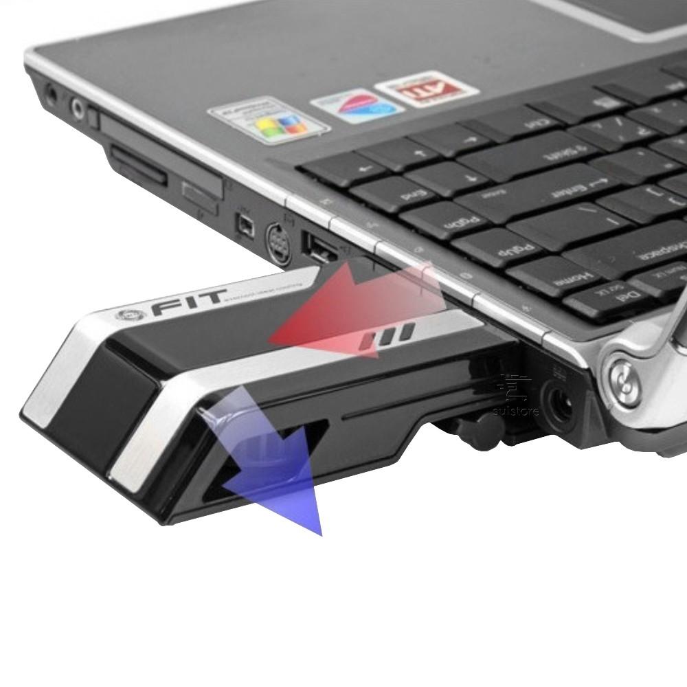 Cooler Exaustor Portátil USB Para Notebook Ultrabook Laptop NB-FT2 Evercool
