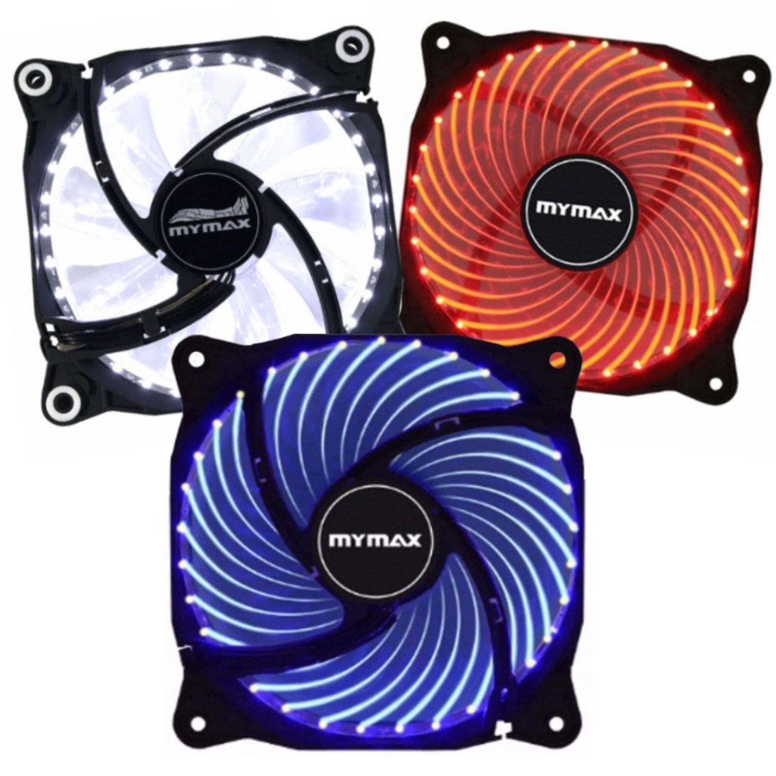 Cooler Fan 120mm Para Gabinete 33 LED Mymax Storm 2 MYC/FC-12025-33