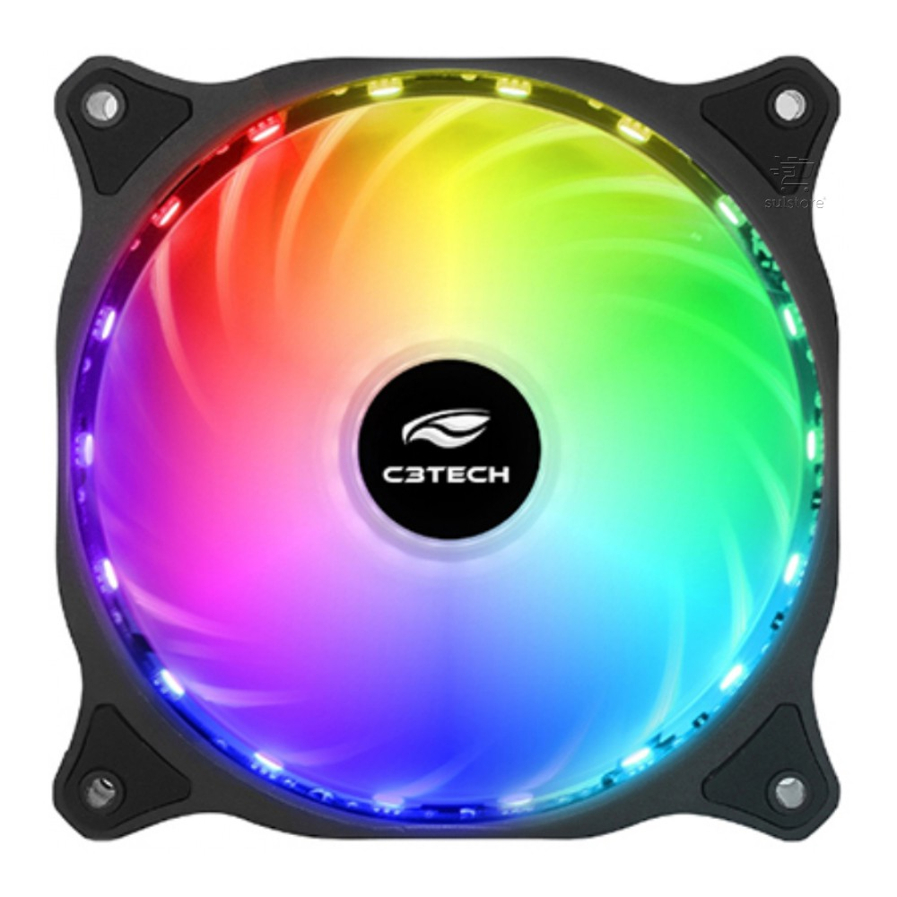 Cooler Fan RGB 18 LEDS Coloridos Storm F9-L150RGB 12cm C3tech